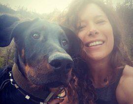 Manuela Hauser Selfie mit Hund